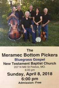 Meramec Bottom Pickers Flyer